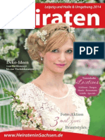 Ausgabe Heiraten in Leipzig - Magazin 2014