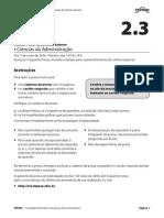 Prova 23 Aud Fiscal Ciencias Da Administracao