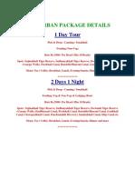 stmtt   executive sundarban package details