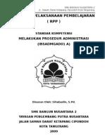 RPP Melakukan prosedur administrasi
