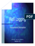 Well Logging Fundamental Information