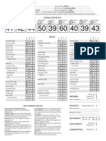 Deathwatch Character Sheet - Printable Fillable