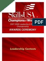2008 SkillsUSA Results