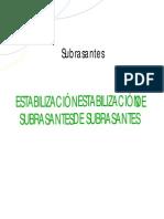 ESTABILIZACIÓN DE SUBRASANTES DE SUBRASANTES-ADITIVOS