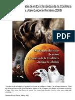 Diccionario ilustrado de mitos y leyendas de la Cordillera Andina de Mérida