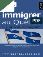 Guide Immigrer Au Quebec 2013