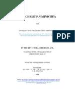 Bridges_Chas - The Christian Ministry - Modern