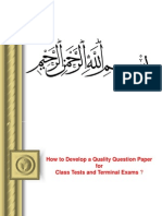 Setting of Question Paper