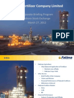 Fatima Fertilizer Presentation