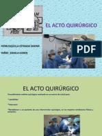 acto quirúrgico