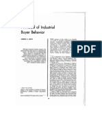 A Model of Industrial Buyer Behavior