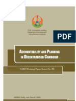 Accountability and Planning in Decentralised Cambodia