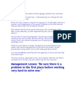 Management Lessons 1