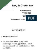Tobin Tax,& Carbon Tax