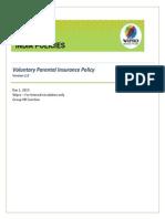 Voluntary Parensastal Insurance Policy 101013