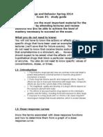 D&B Spring 2014 Study Guide Exam 1