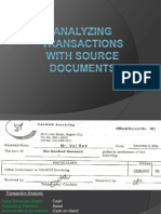 analyzing transaction through source documents
