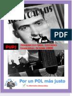Programa Electoral Para Elecciones a Diputado