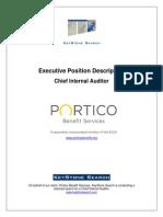 Position Profile, Chief Internal Auditor, Portico
