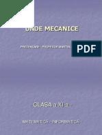 Unde Mecanice referat fizica