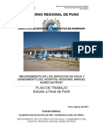 PLAN DE TRABAJO HOSPITAL MANUEL NUÑEZ BUTRON