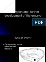 Fertilization and Further Development of the Embryo