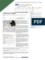 EE.UU. insta a limitar uso de paracetamol debido a problemas en el hígado _ T&M en Emol