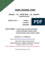 stmtt  dooars  package  tour 8 days