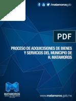 Proceso de Adquisiciones de Bienes y Servicios Del Municipio de H. Matamoros