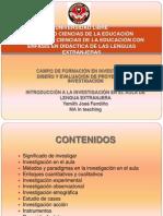 01 26 2014 - Intro investigación Aula Lenguas Extranjeras