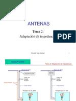 ANTENAS, Adaptación de impedancia
