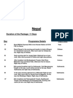stmtt  nepal itinerary