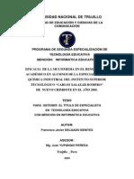"""EFICACIA DE LA MULTIMEDIA EN EL RENDIMIENTO ACADÉMICO EN ALUMNOS DE LA ESPECIALIDAD DE QUÍMICA INDUSTRIAL DEL INSTITUTO SUPERIOR TECNOLÓGICO """"CARLOS SALAZAR ROMERO"""" DE NUEVO CHIMBOTE EN EL AÑO 2005"""
