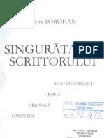 Geo Dumitrescu - Sorohan, Singuratatea
