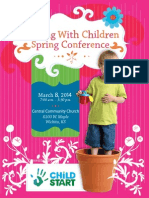 2014 Growing With Children & Director's Chair Conferences  Registration Brochure