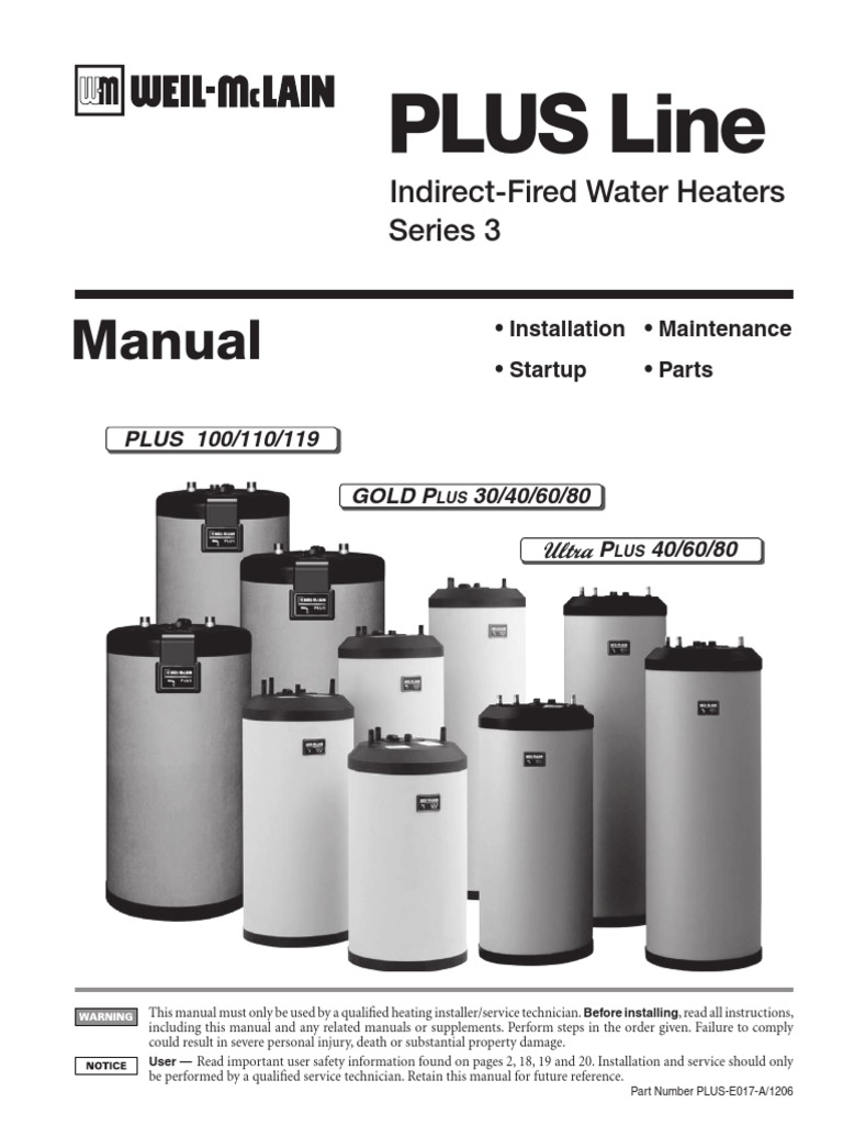 Indirec Fired Water Heater Plus Indirect Fired Water Manual Guide