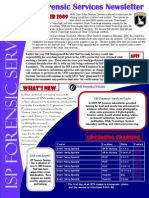 Forensic Services Newsletter Winter 2009