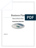 Water purification business plan