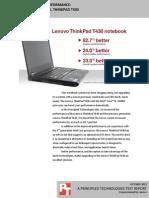 Notebook computer performance