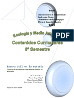 CONTENIDOS CURRICULARES  6º SEMESTRE
