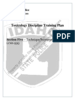 Section 5 Toxicology Training Plan LCMS QQQ ONLY Rev 0