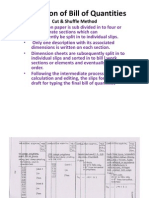 Production of Bill of Quantities Ppt