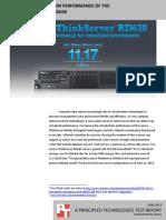 VMmark virtualization performance of the Lenovo ThinkServer RD630