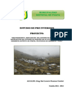 Proyecto Agua Pago Carabaya