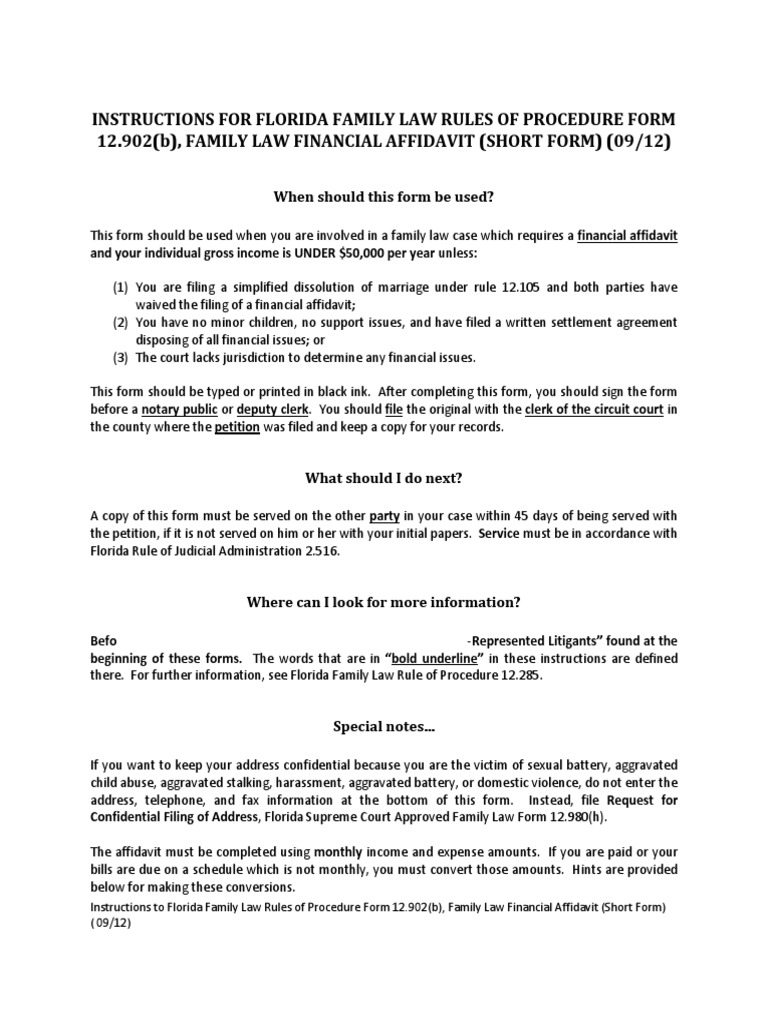 Family Law Financial Affidavit Income Tax In The United States