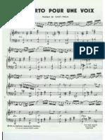 Concerto Pour Une Voix (Saint-Preux)