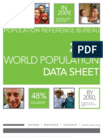 The 2009 World Population Data sheet...