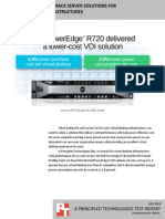 Dell PowerEdge R720 rack server solutions for virtual desktop infrastructures