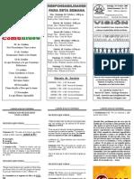 CAMPAÑA 40 DIAS DE COMUNIDAD, BOLETIN 121