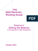 Improving Debt Recovery Working Group